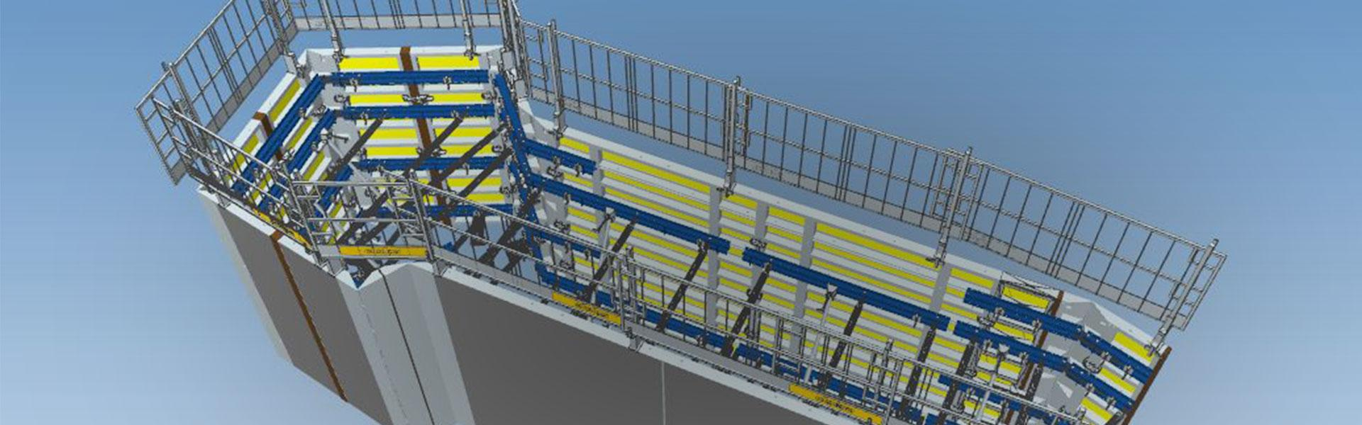 BIM model of construction site