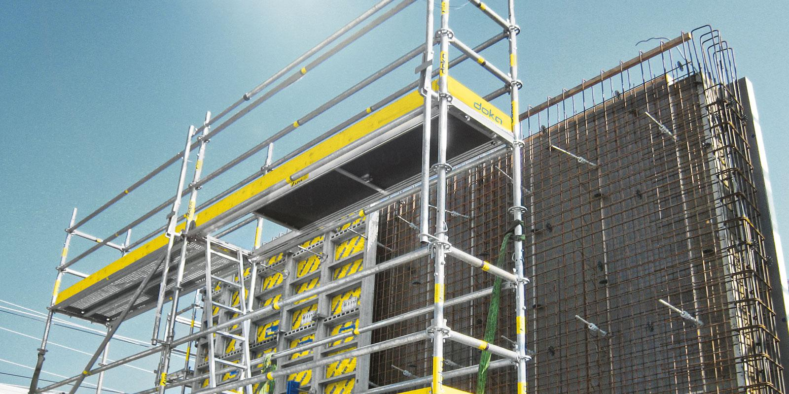 Working On Scaffolding : Working scaffold modul doka