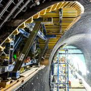 Martin Place station has nine individual tunnel cross-sections for which Doka designed unique formwork solutions.  <br />  <br /> Photo: Sydney Metro_2.jpg <br /> Copyright: Image supplied by Sydney Metro <br />