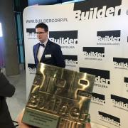 statuetka top builder 2018 - doka sp. z o.o.