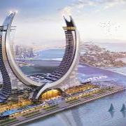 The luxury hotel complex in the harbour area of the planned city of Lusail will have apartments, offices, leisure facilities and restaurants in addition to hotel accommodation. Copyright: HBK Contracting Company <br />