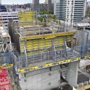 Doka's visible framed formwork Framax Xlife & guided climbing  <br /> formwork Xclimb 60 <br />