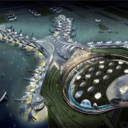 With its unusual shape the new airport terminal will become a prominent landmark in Abu Dhabi. © www.arabtecuae.com