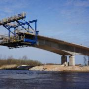 A Doka cantilever forming traveller is being used for the first time in the Baltic region on the Tartu Bridge build.