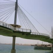 The bridge design resembles a necklace with interlocking ellipses.