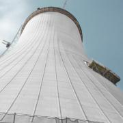 Doka provided the formwork solution based on the Cooling-tower formwork SK175 for the construction of the 164 m high cooling tower of the coal power station Sostanj in Slovenia. The self-climbing system for pouring sections of 1.50 m high allow for precise forming with extremely short cycling times.