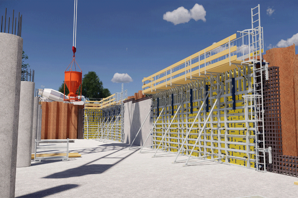 "Streamlining formwork through the use of BIM methods in the ""Gelbe Haide"" project"