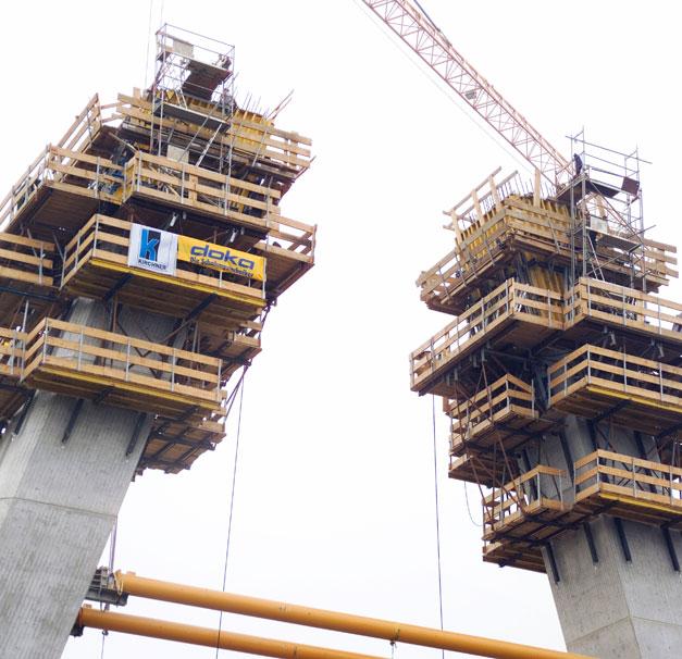 Bauunternehmen Wesel rheinbrücke wesel doka