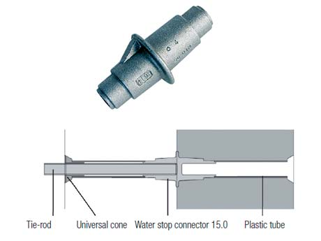 Water stop connector 15.0
