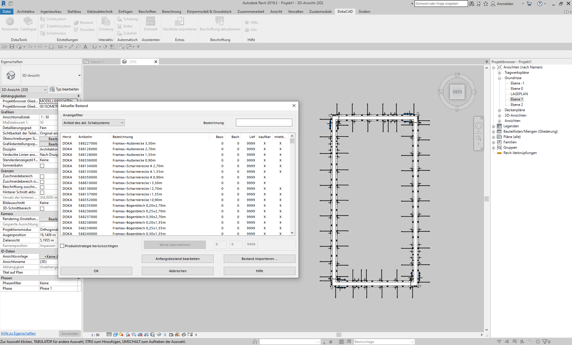 Screenshot DokaCAD for Revit 9